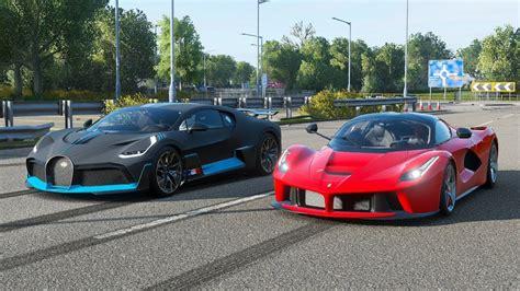 Ferrari laferrari aperta vs bugatti divo at highlands. Forza Horizon 4 Drag race: Ferrari LaFerrari vs Bugatti Divo