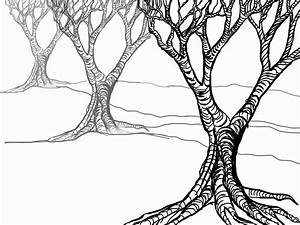 The Helpful Art Teacher: Drawing and painting trees: Light ...