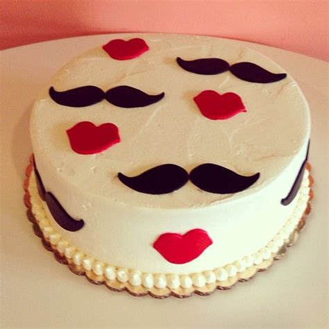 Mustache And Lips Cake For A Gender Reveal! By 2tarts
