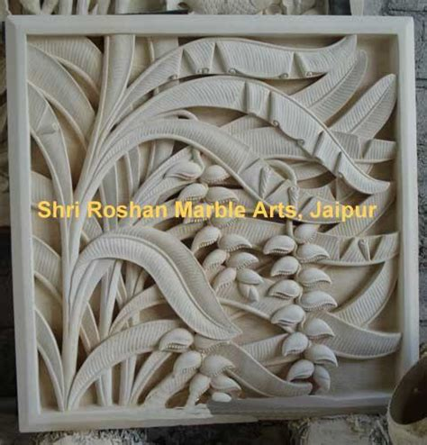 white marble stone carved wall panel rs  square feet