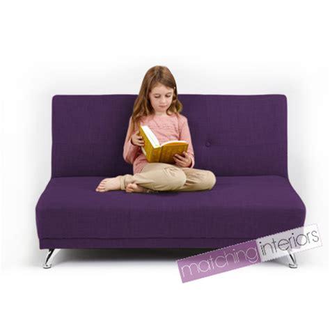 petit canape enfant violet clic clac enfants 2 places sofa lit invit 233 soir 233 e