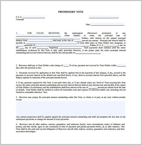 promissory note format  tuition fee form resume examples