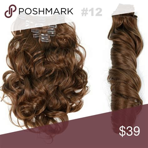 12 Wavy Full Head Clip In Extension Texturewavy Can Be
