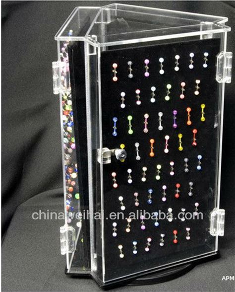 used lockable glass display cabinets acrylic spinning locking body jewelry display case buy