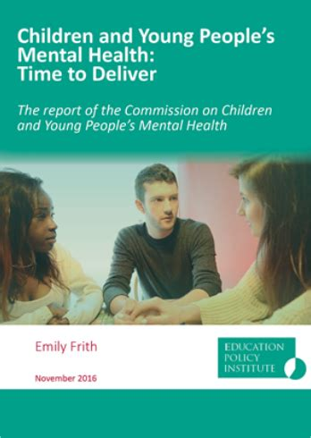 report children  young peoples mental health time