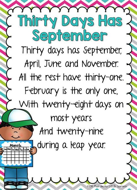 30 days hath september quotes 30 days has september days months poems