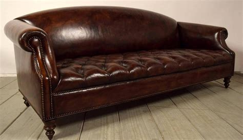 chesterfield tufted sofa vintage chesterfield tufted leather sofa at 1stdibs