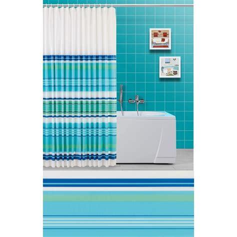 tenda per vasca da bagno tenda doccia e vasca da bagno righe orizzontali verde