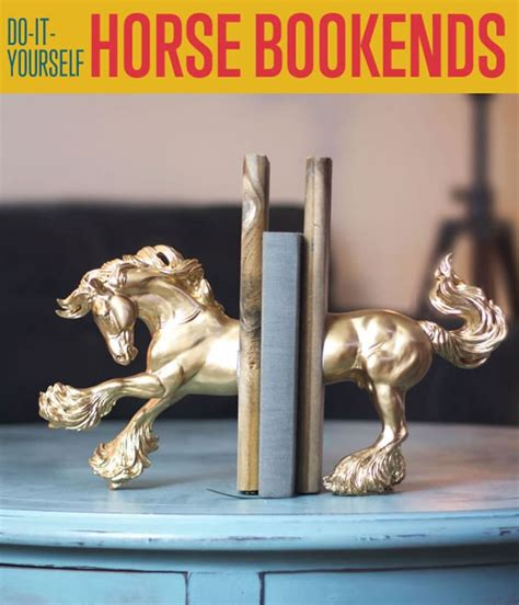 diy horse bookends cool bookends diy ready
