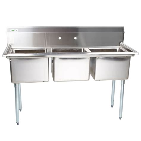 the correct order of a three compartment sink is regency 54 quot 16 gauge stainless steel three compartment