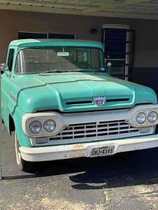 1960 Ford F100 Pickup Green Rwd Manual For Sale