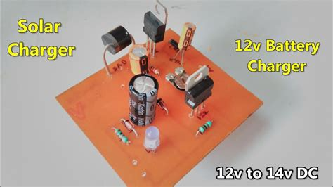 Battery Solar Charger Circuit Making Youtube