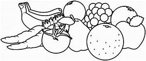 Fruit And Vegetable Clip Art Black And White