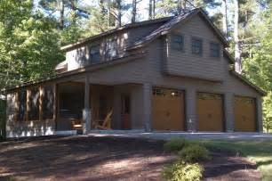 Stunning Garage Plans With Living Quarters by Maine Lake Cottage Craftsman Garage And Shed Other