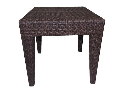 wicker patio end tables hospitality rattan outdoor soho wicker 19 square end table