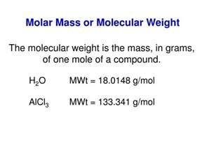 Molar Mass Formula