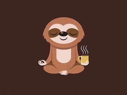 Sloth Yoga Coffee Drawing Sloths Animal Wallpapers
