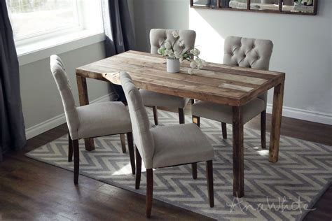 modern reclaimed wood dining table project tutorial