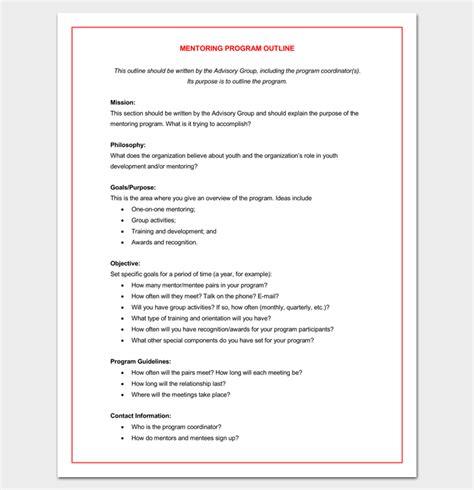 program outline template  sample  format