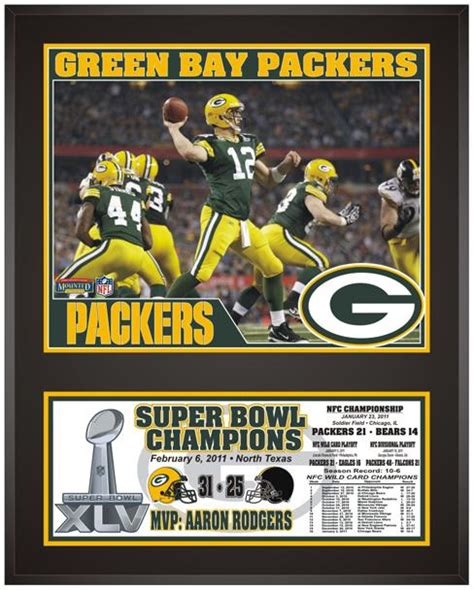 Green Bay Packers Super Bowl Xlv Champions Sublimated 12