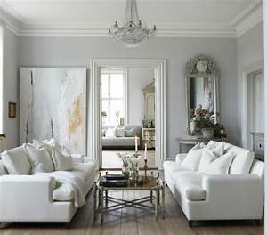 un salon en gris et blanc c39est chic voila 82 photos qui With deco mur blanc et gris