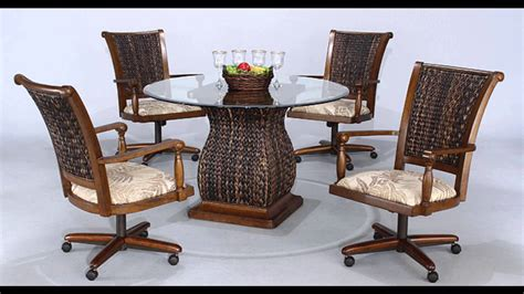 dining room outstanding dinette sets with rolling chairs