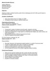 resume templates for material handler sle nursing cover letter letters advice cover