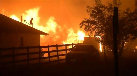 evacuations ordered  fire burns  napa valley