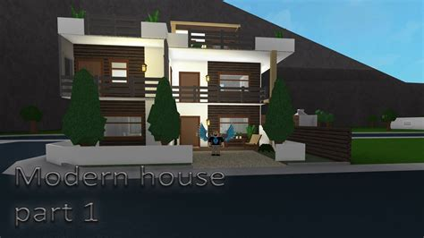 Lets Build Bloxburg  Modern House Part 1 Youtube