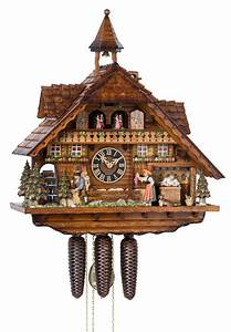 Engstler, Chalet, Style, Eight, Day, Musical, Cuckoo, Clock, With, Clock, Maker, U0026, Moving, Bell, Ringer