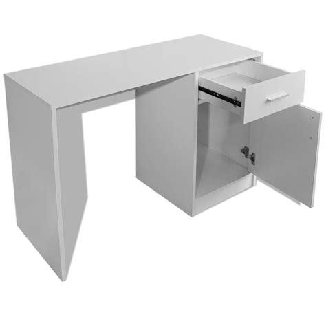 bureau avec tiroir pas cher acheter vidaxl bureau avec tiroir et placard 100x40x73 cm