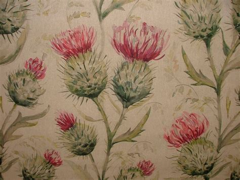 Floral Upholstery Fabric by Voyage Decoration Thistle Glen Summer Floral Curtain