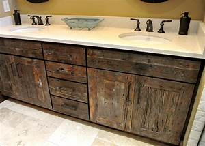 Reclaimed wood kitchen cabinets nice with photo of for Barnwood plywood