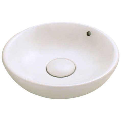 home depot vessel sinks polaris sinks porcelain vessel sink in bisque p003v b