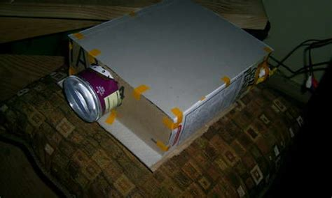 diy projector   cereal boxes