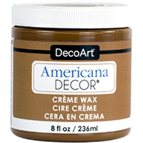 Americana Decor Creme Wax Brown by Decoart Americana Decor Chalky Finish Finishes