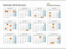 Feiertage 2018 Schweiz Kalender & Übersicht