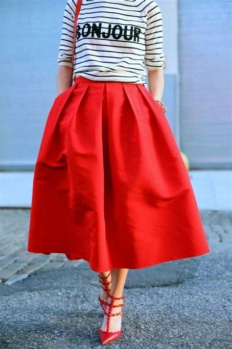 Best 25+ Red skirt outfits ideas on Pinterest | Striped skirt outfits Teaching outfits summer ...