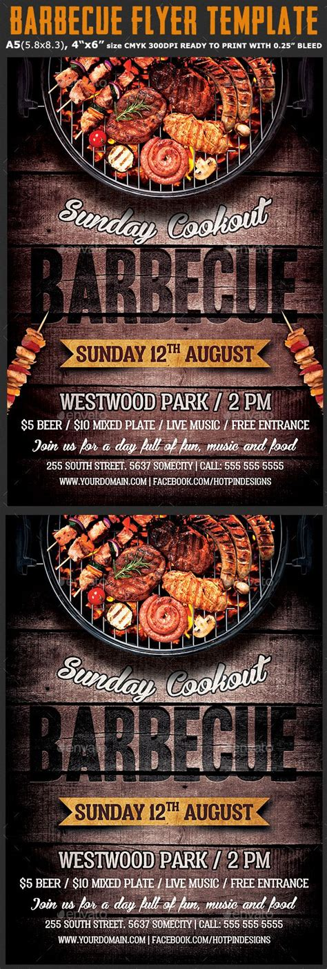 barbecue bbq flyer template flyer template bbq menu