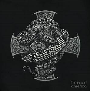 Snake Cross Painting by Stanley Morrison