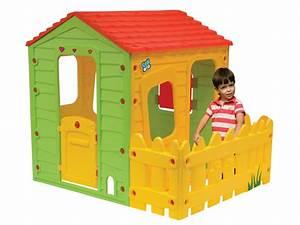 Cabane Enfant Plastique : cabane enfant en pvc fermette x x m 60013 ~ Preciouscoupons.com Idées de Décoration