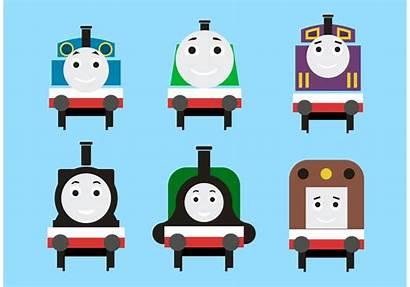 Thomas Train Vectors Silhouette Vecteezy Graphics