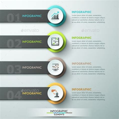 modern infographic paper template modern paper