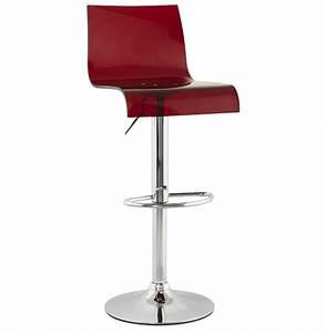 Tabouret De Bar Acier : tabouret de bar design rouge et acier chrom rotaion 360 ~ Teatrodelosmanantiales.com Idées de Décoration