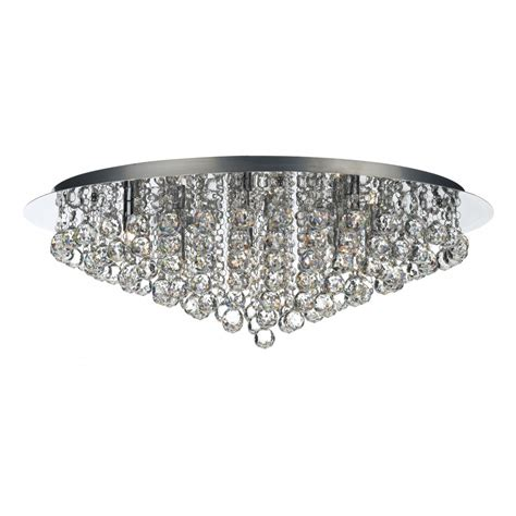pluto large chrome chandelier for low ceilings