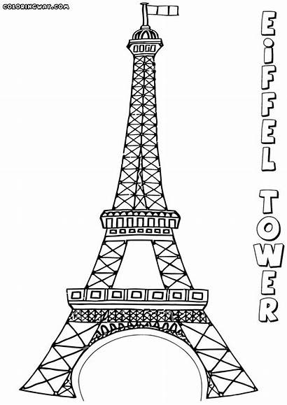 Coloring Pages Eiffel Tower Colouring Printable Adult