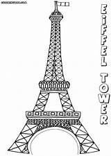 Coloring Pages Eiffel Tower Colouring Printable Adult Tree Blossom Sketch Cherry Books Eiffeltower sketch template