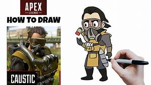 Caustic Cartoon Speed Drawing From New Apex Legends