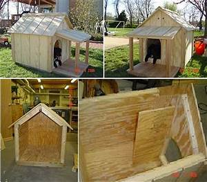 10 free dog house plans woodworking crazy for How to build a nice dog house