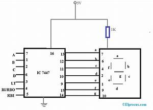 Bcd To Seven Segment Decoder Display Theory   Circuit And